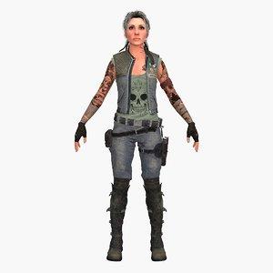 warrior girl baron 3D