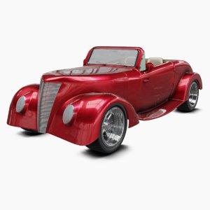 3D vintage retro car