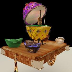 chinese gold ingot egg 3D model