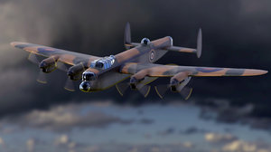 3D model simple avro lancaster