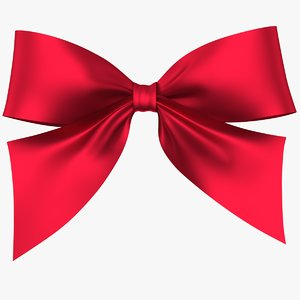 3D realistic bow gift 01 model