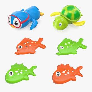 3D model bath toys