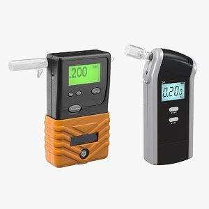 portable breathalyzers alcohol breath 3D