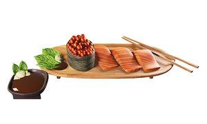 3D sushi salmon