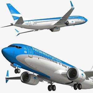 boeing 737 aerolineas argentinas 3D model