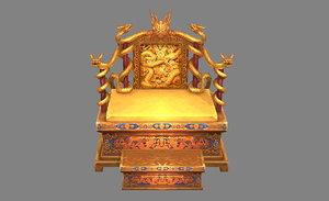 3D throne chair model