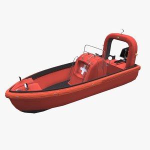 3D fast rescue boat model