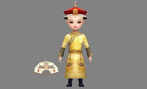 qingdynasty child 3D model