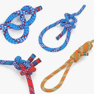 rope knots 3D model