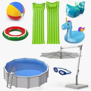 swimming pool accessories 5 3D