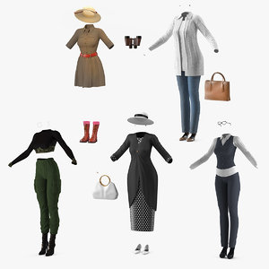 women costumes 3 3D