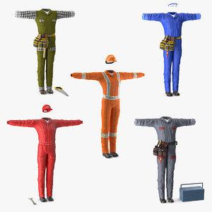 workman uniforms 3 working 3D model