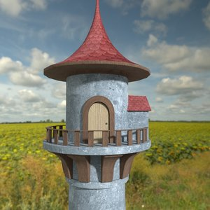 fairy tower 3D model