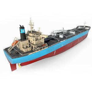 3D model vessel tanker oil products