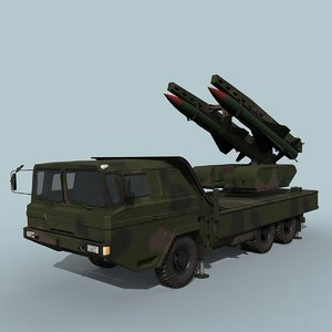 3D hq-12 chinese missile