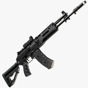 ak-12 pbr weapon 3D model