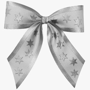 realistic bow gift 03 3D