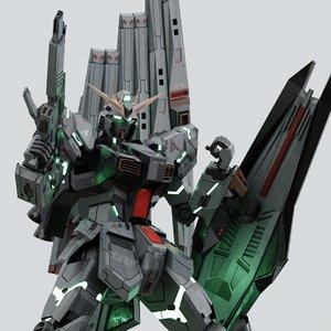 rx-93 nu gundam 3D model
