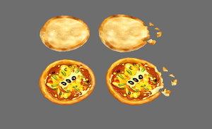 3D bread pizza