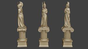 athena a1 gods 3D model