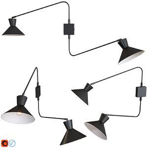 wall lamp applique voltige 3D model