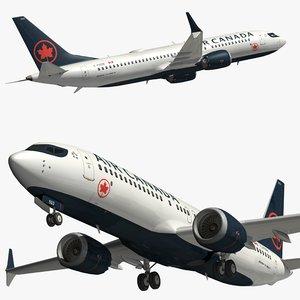 3D boeing 737 air canada
