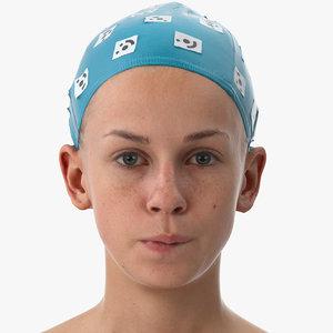 3D model rhea human head lip