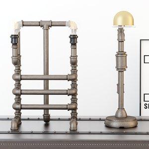 3D desk lamps