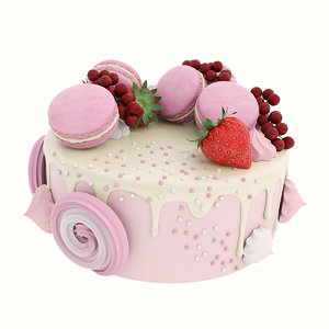 3D cake pink macaroon