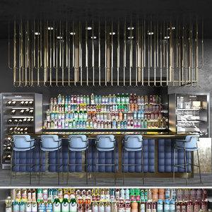 3D hotels bars model