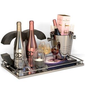 alcohol set 3D model