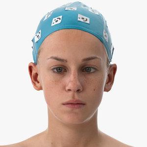 rhea human head cross 3D model