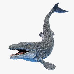 3D mosasaurus