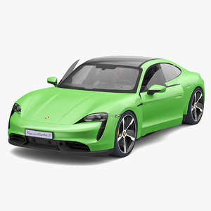 3D porsche taycan turbo s model