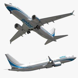 3D model boeing 737 enter air