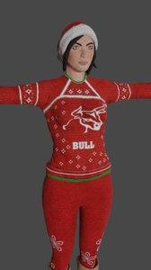 ennie woman ready games 3D model