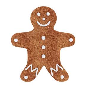 3D model dessert food gingerbread