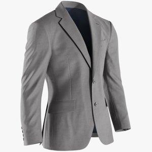 realistic men s jacket 3D