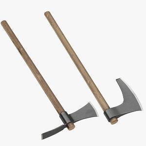 3D farm axe hoe tool