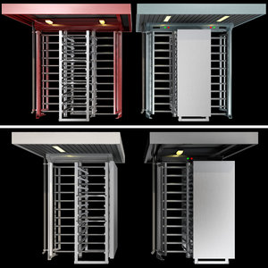 full-height turnstiles 3D model