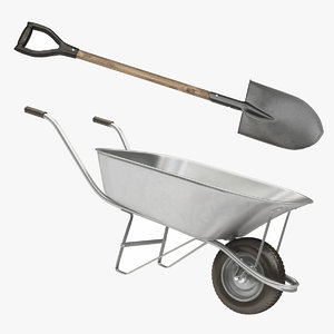 wheelbarrow shovel model