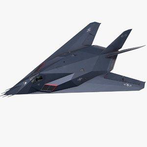 3D f-117 jet