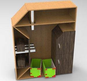 toy organizer 3D