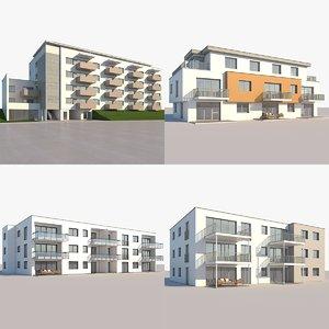3D model apartment buildings