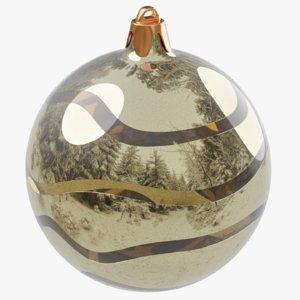 christmas gold ball 3D model