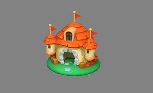 3D ancientcastle toyhouse