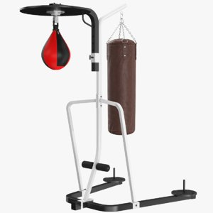 real punching bag stand model