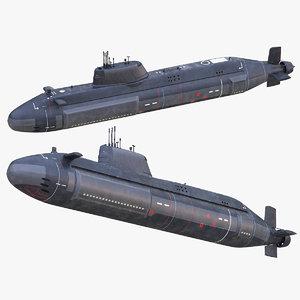 submarine ssns hms 3D model
