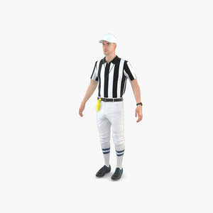 american football referee 3D model