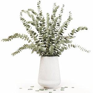 eucalyptus 3 vase decor model